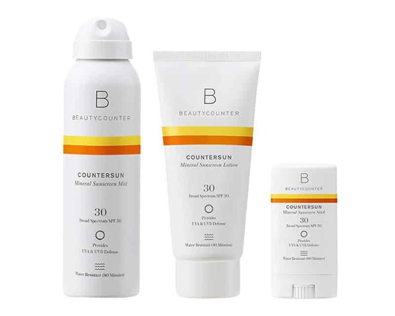 BeautyCounter Countersun Mineral Sunscreen Mist, Sunscreen Lotion, Sunscreen Stick